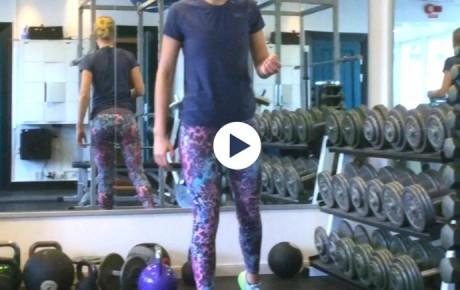 Veckans övning: 3D-träning, enbens squat med reach